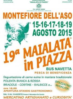 Manifesto maialata in piazza