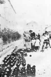 vendita di vasi ai primi del '900